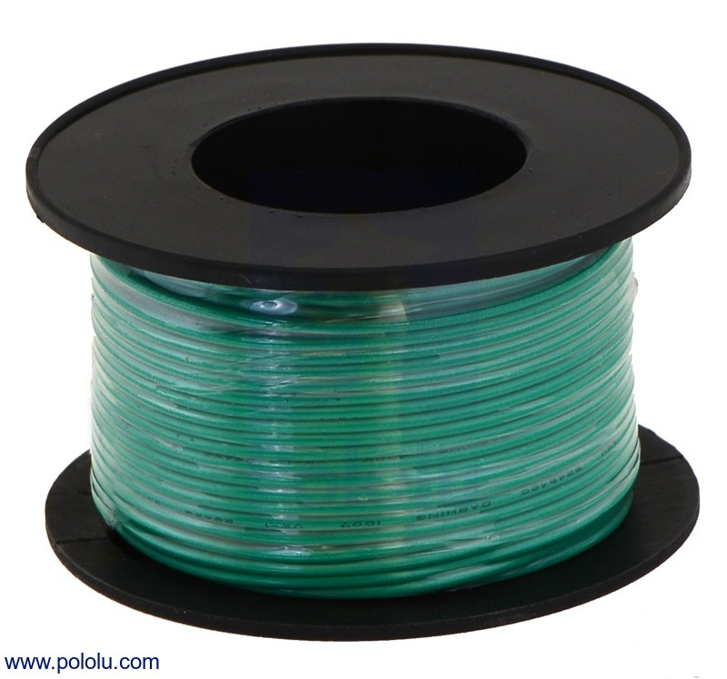 Stranded Wire: Green, 30 AWG, 100 Feet