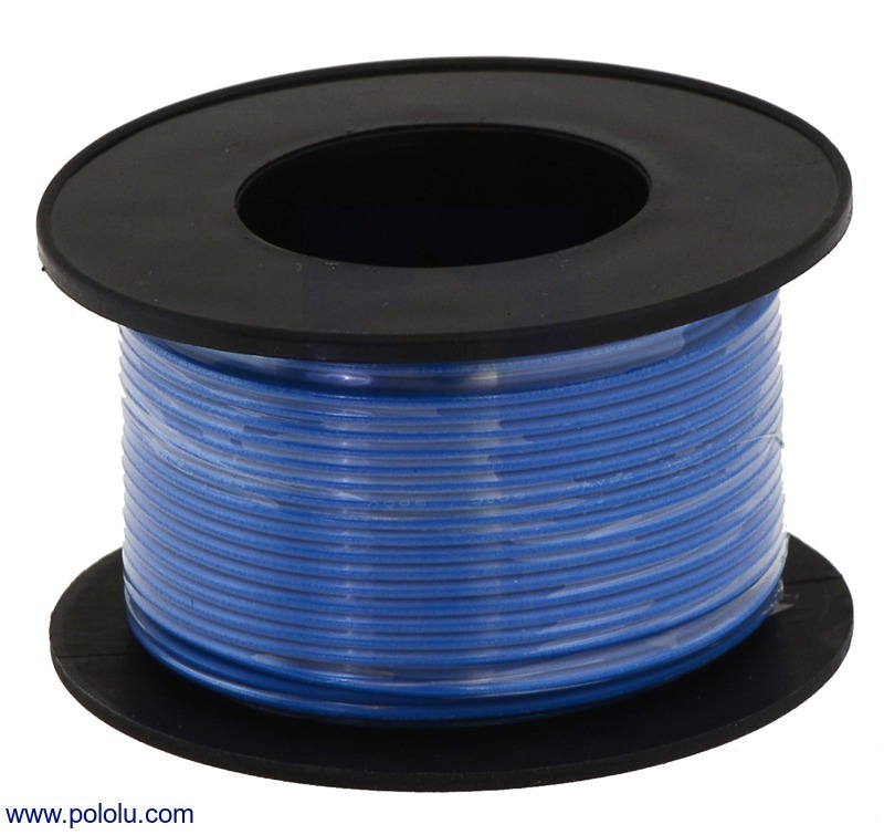 Stranded Wire: Blue, 24 AWG, 60 Feet
