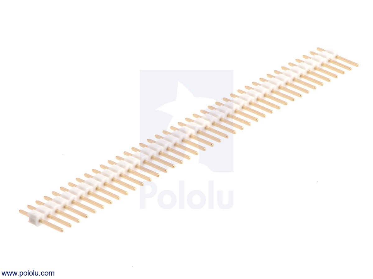 0.100 (inches) (2.54 mm) Breakaway Male Header: 1×40-Pin, Strai