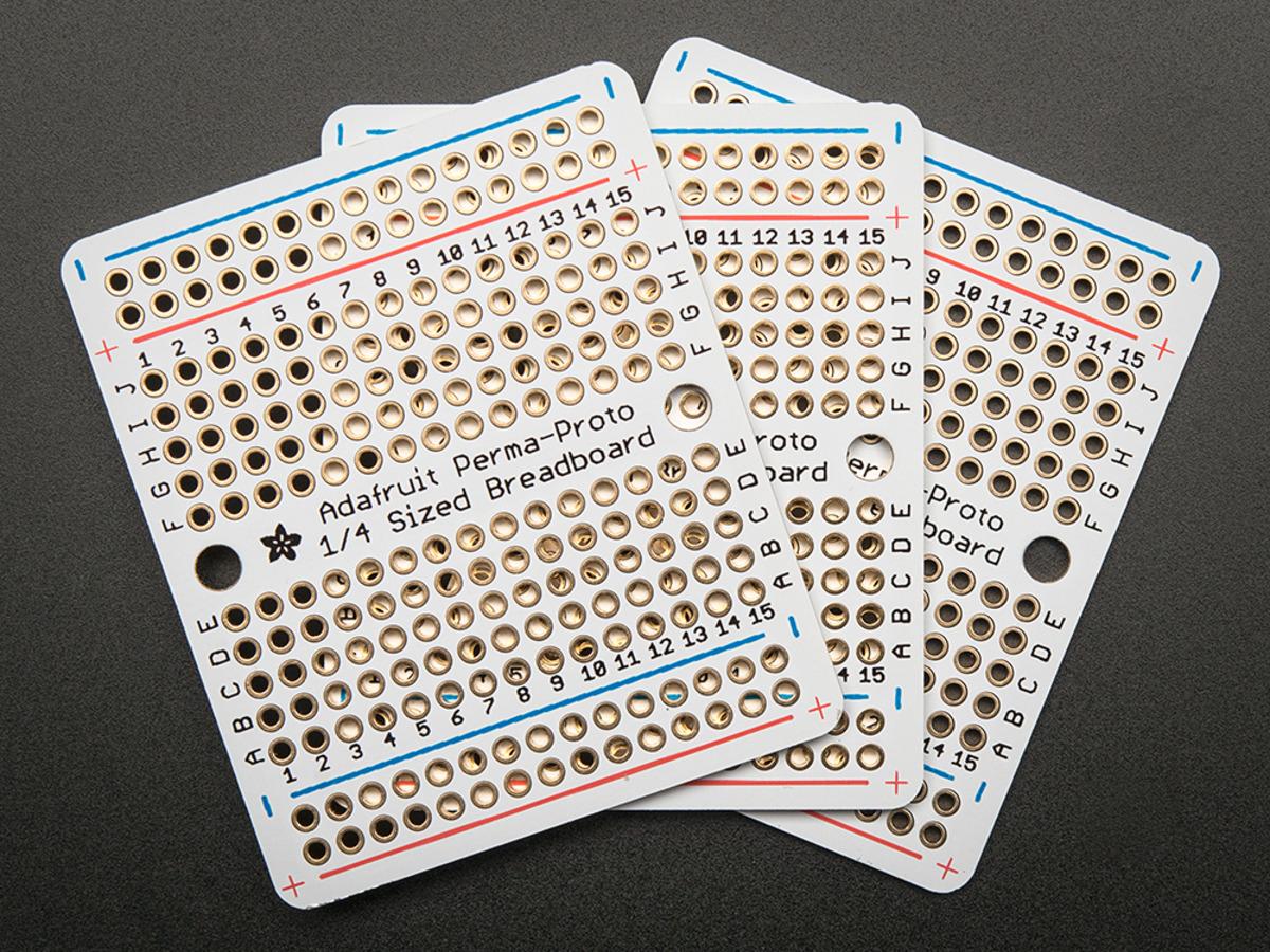 Adafruit Perma-Proto Quarter-Sized Breadboard PCB (3-Pack)
