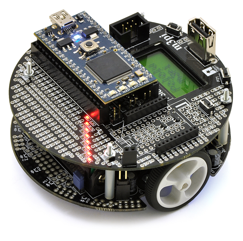 m3pi Robot + mbed NXP LPC1768 Development Board Combo
