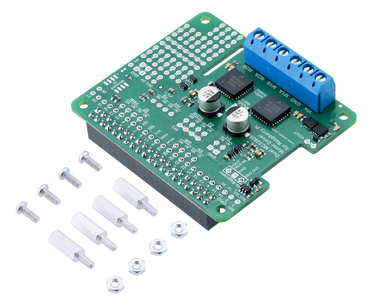 Pololu Dual MC33926 Motor Driver for Raspberry Pi (Assembled)