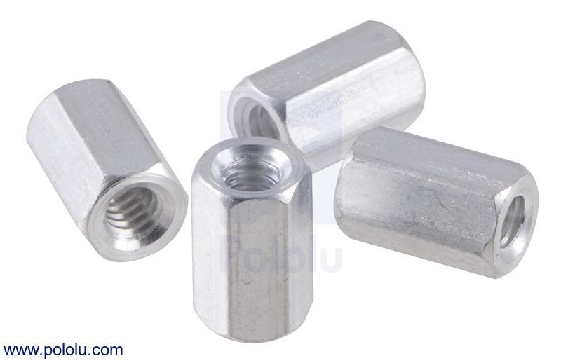 Aluminum Standoff: 5/16 (inches) Length, 4-40 Thread, F-F (4-Pac