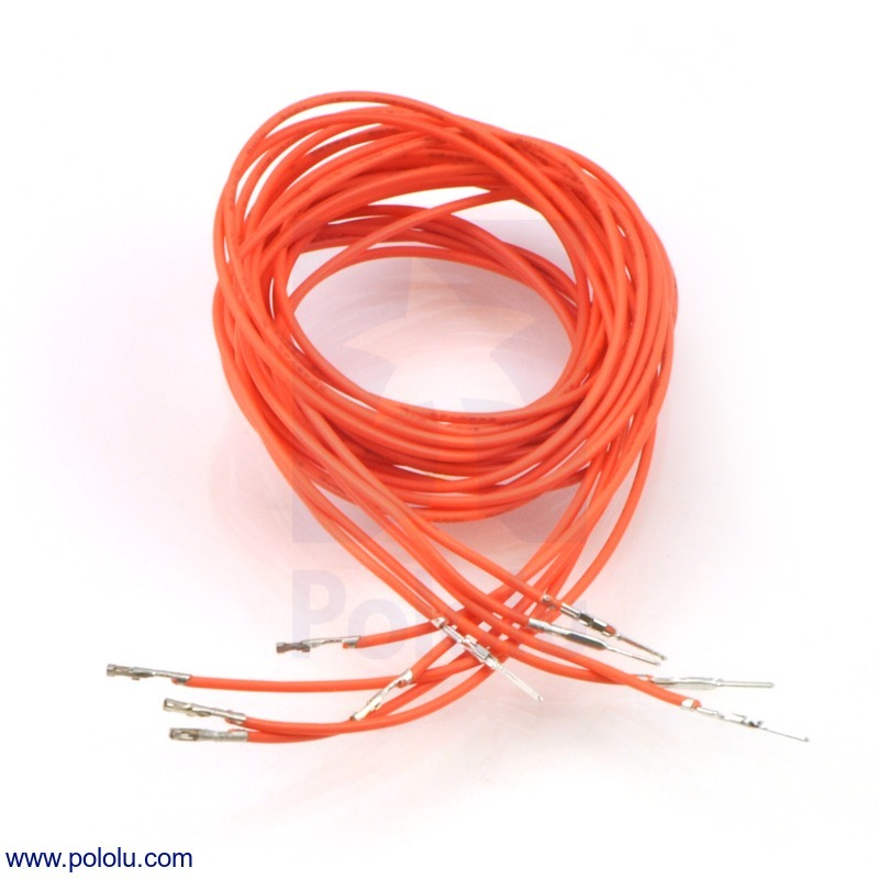Wires with Pre-crimped Terminals 5-Pack M-F 36 (inches) Orange