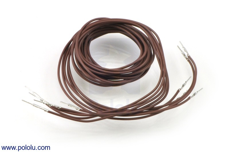 Wires with Pre-crimped Terminals 5-Pack M-M 36 (inches) Brown