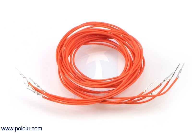 Wires with Pre-crimped Terminals 5-Pack M-M 36 (inches) Orange