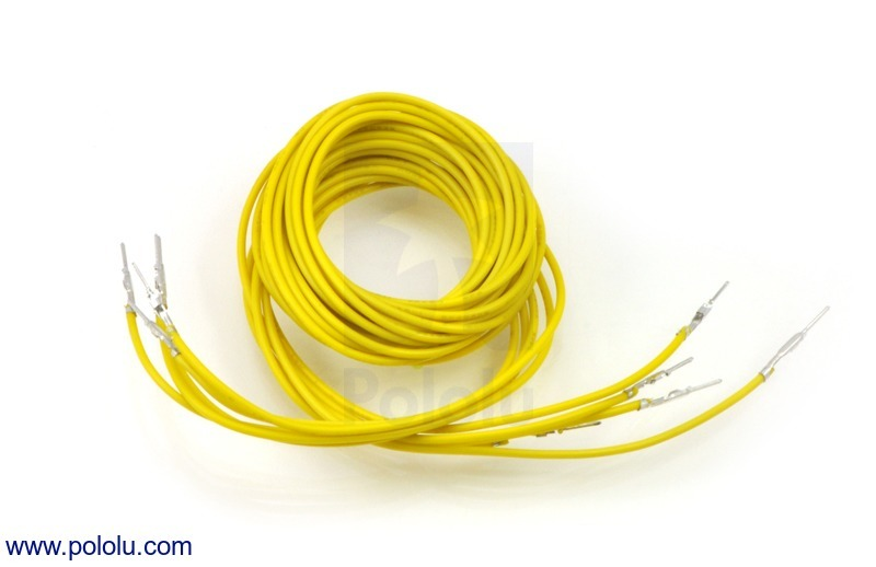 Wires with Pre-crimped Terminals 5-Pack M-M 36 (inches) Yellow