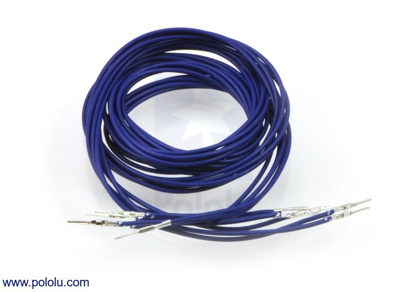 Wires with Pre-crimped Terminals 5-Pack M-M 36 (inches) Blue