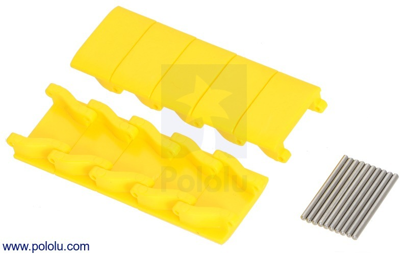 Miniature Track Link and Pin - Yellow (10-Pack)