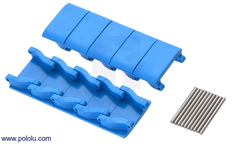 Miniature Track Link and Pin - Blue (10-Pack)