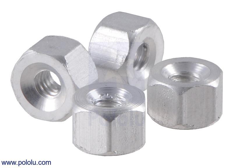 Aluminum Standoff: 1/8 (inches) Length, 2-56 Thread, F-F (4-Pack