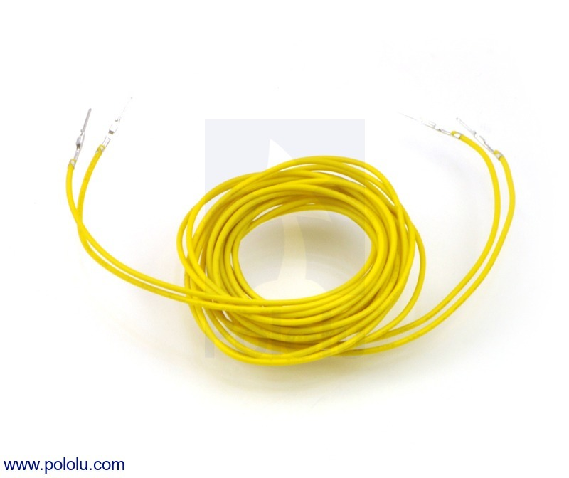 Wires with Pre-crimped Terminals 2-Pack M-M 60 (inches) Yellow