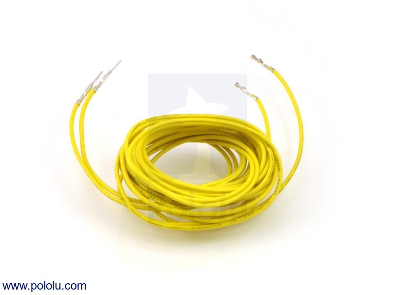 Wires with Pre-crimped Terminals 2-Pack M-F 60 (inches) Yellow