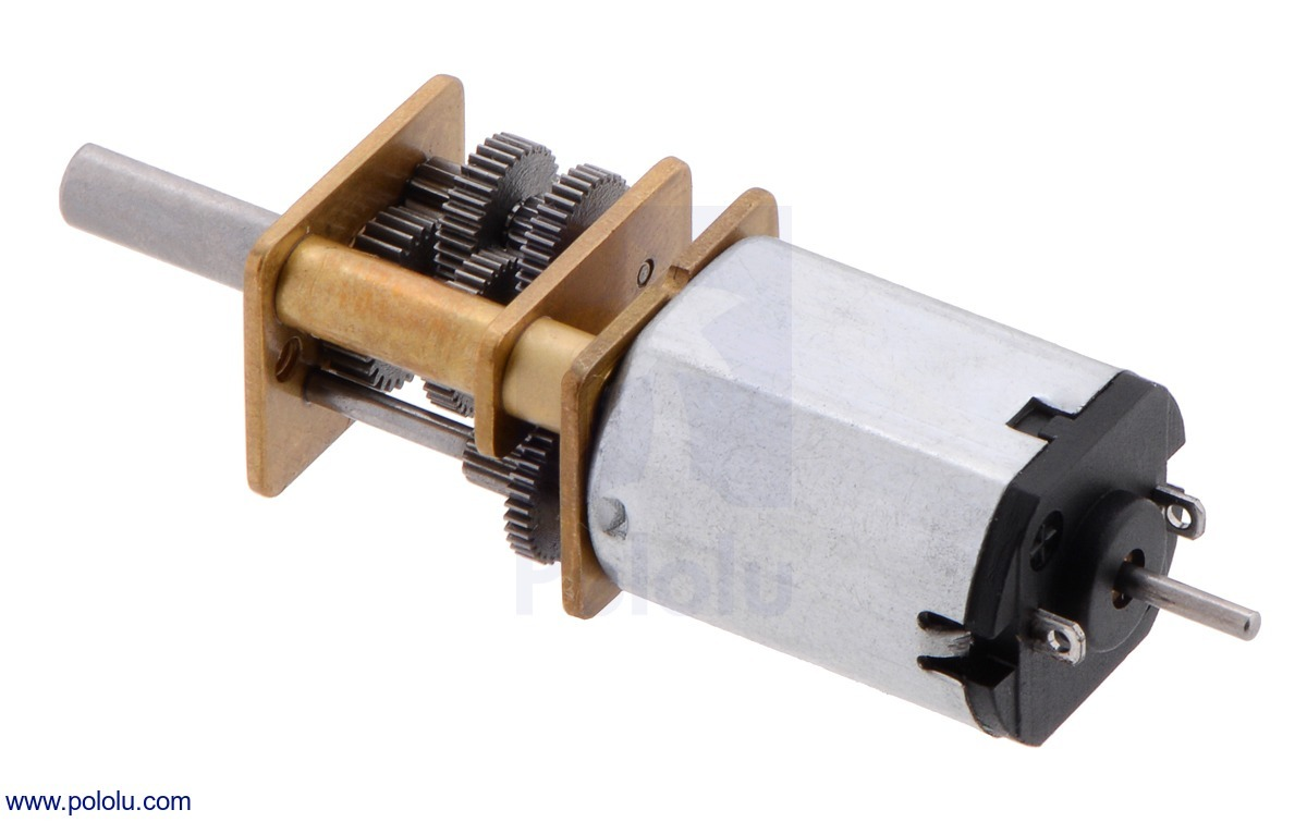 1000:1 Micro Metal Gearmotor MP with Extended Motor Shaft