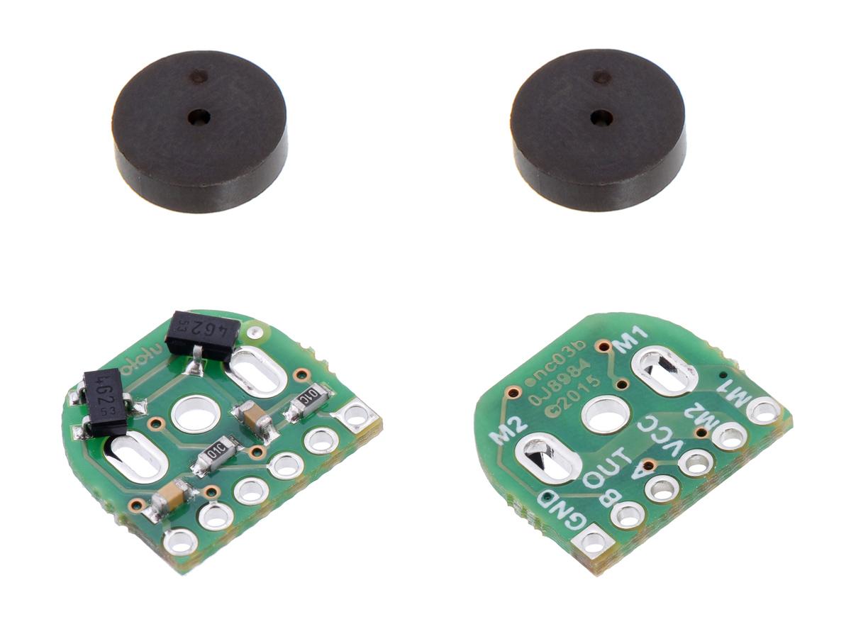 Magnetic Encoder Pair Kit for Micro Metal Gearmotors, 12 CPR, 2.