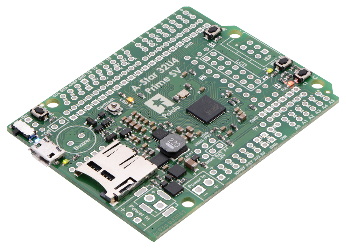 A-Star 32U4 Prime SV microSD (SMT Components Only)