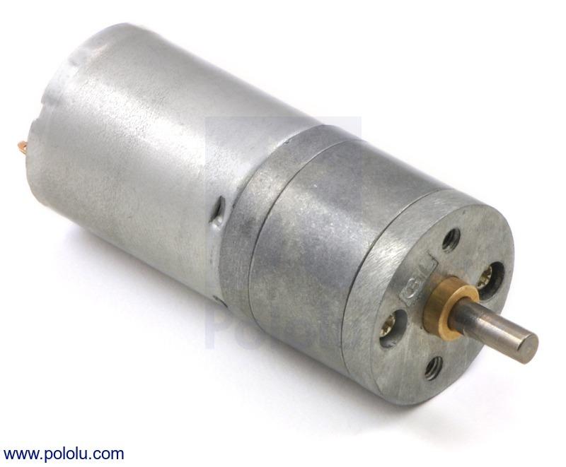 34:1 Metal Gearmotor 25Dx52L mm MP 12V