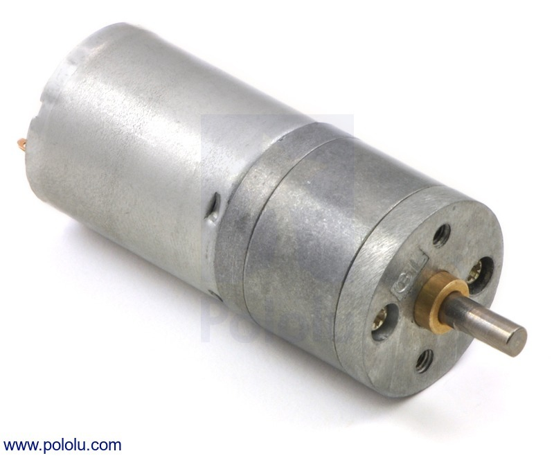 20.4:1 Metal Gearmotor 25Dx50L mm LP 12V