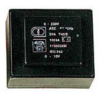 TRASFORMATORE RESINATO 18VA 2x15V / 2x0,667 A