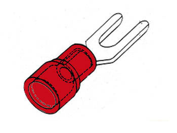 CONNETTORE A FORCELLA ROSSO 5,3 mm