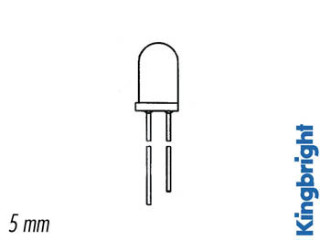 LED bicolore 5 mm - ROSSO-VERDE