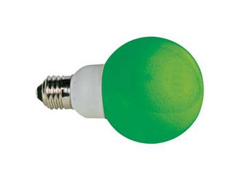 Lampada a led verdi con attacco e27
