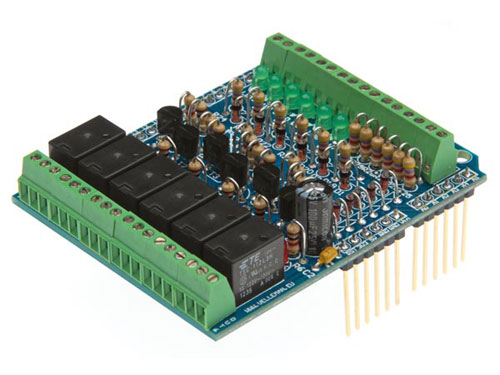 Shield IN/OUT per Arduino - in kit da saldare