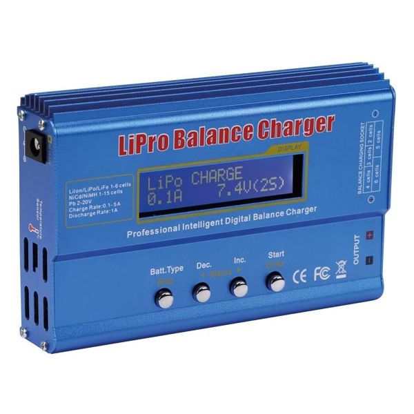 Caricabatterie programmabile Litio-Polimero