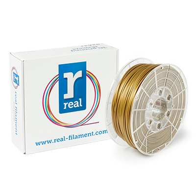 REAL PLA - Gold - spool of 1Kg - 3mm