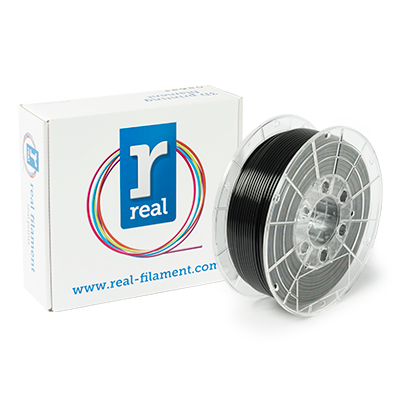 REAL PETG - Opaque black - spool of 1Kg - 3mm