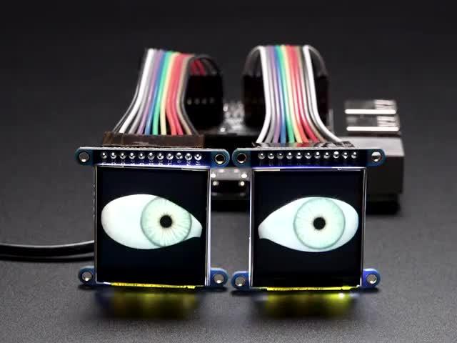 Adafruit Animated Eyes Bonnet for Raspberry Pi Pack