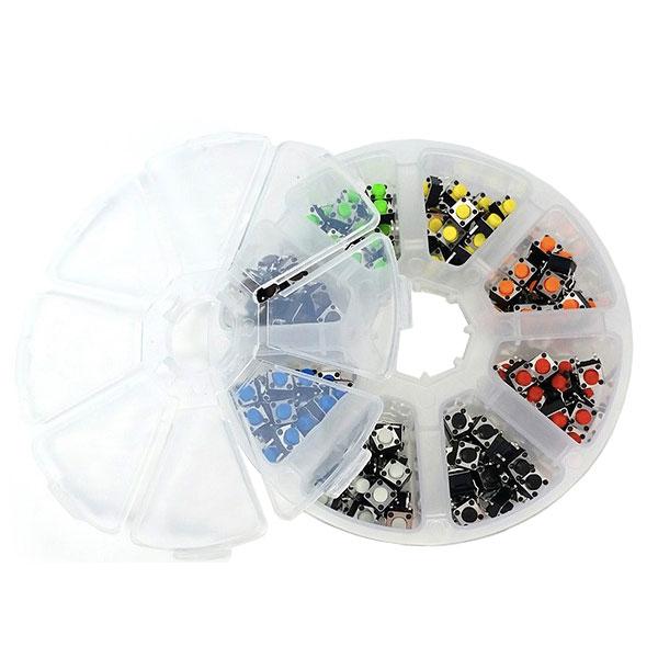 Box 160 Pulsanti 6x6x5 - 8 colori