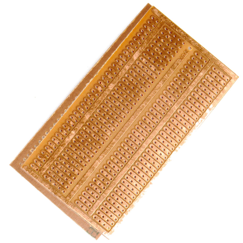 FR4 Epoxy PCB Board with single sided copper zones ( 4.8x13.3cm