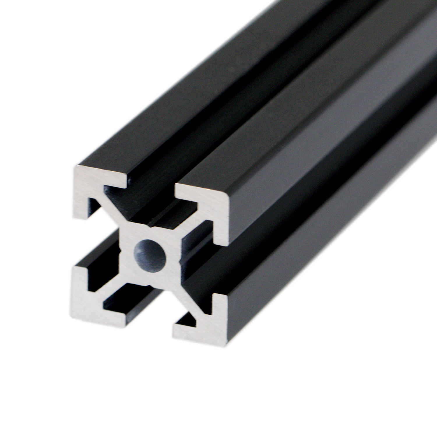 Aluminum extrusion 20x20mm (Custom length) - Black