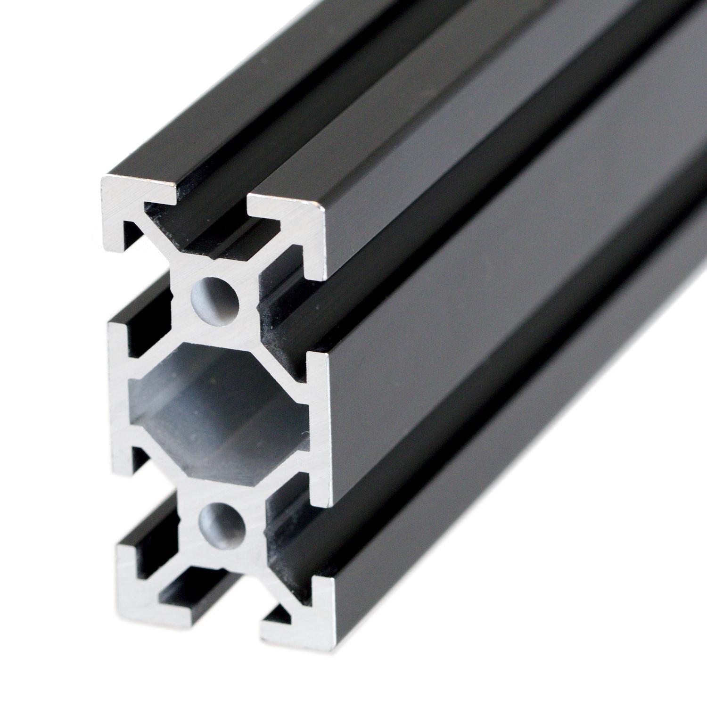 Aluminum extrusion 20x40mm (Custom length) - Black