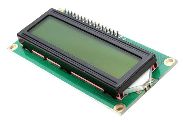 Display LCD 16x2 Verde con connettore strip già saldato