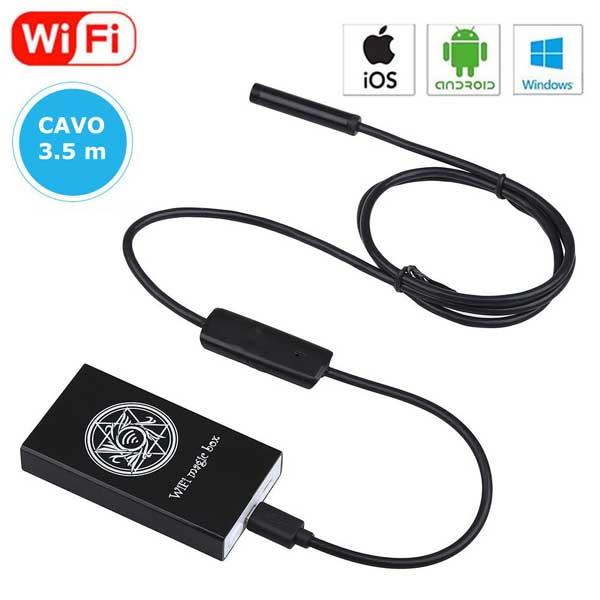 Telecamera Endoscopica Wi-Fi per Smartphone e PC - 5.5mm