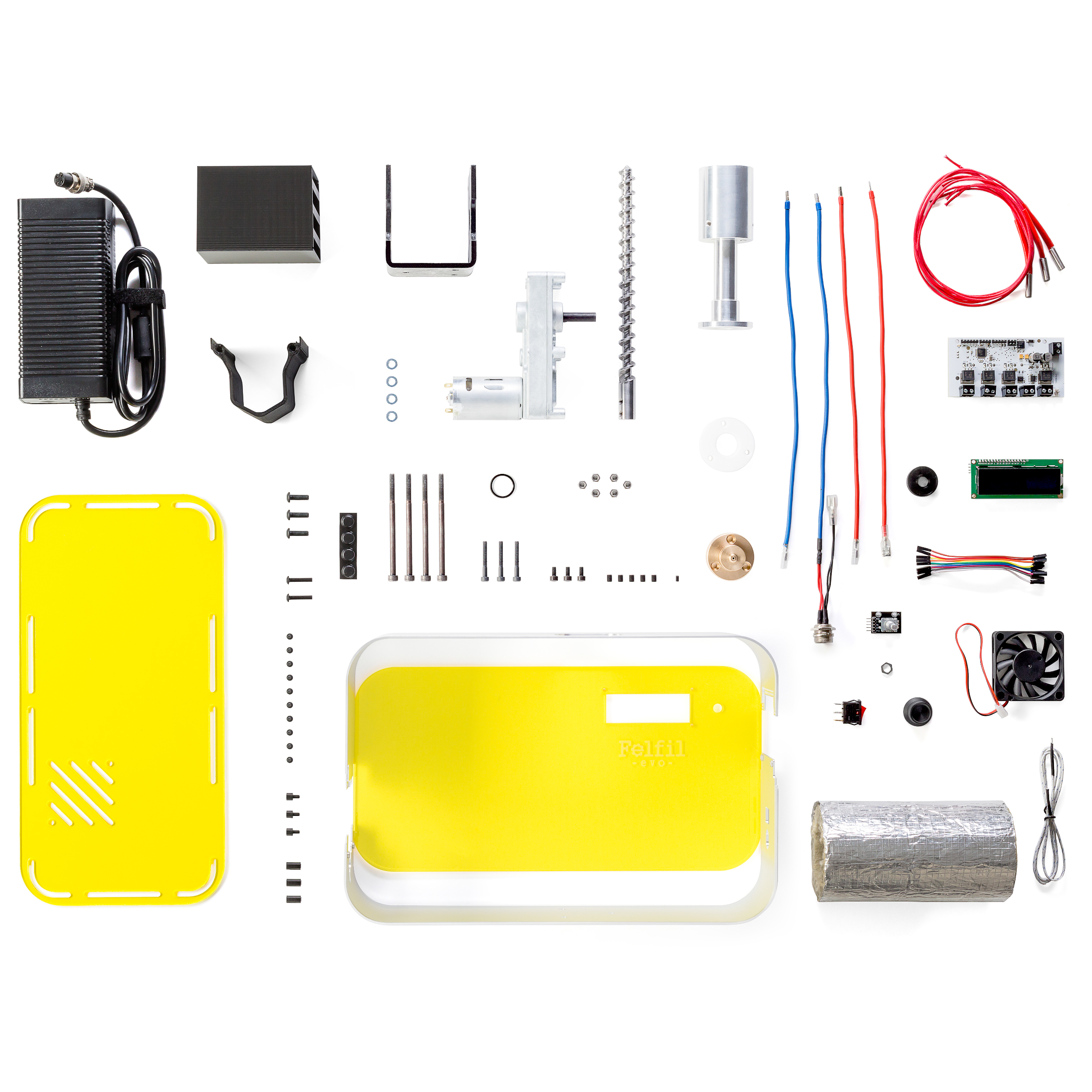Felfil - EVO Pellet Extruder Full kit - White