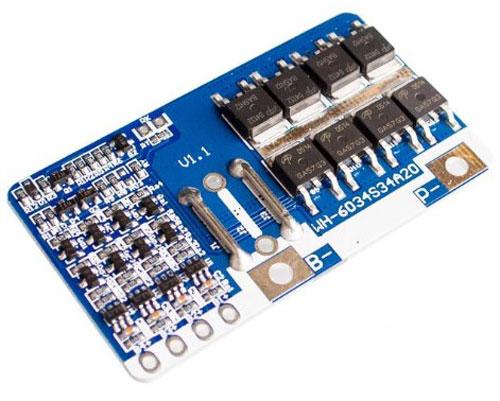 Protezione pacchi batteria Ioni di Litio 4S - 20 A