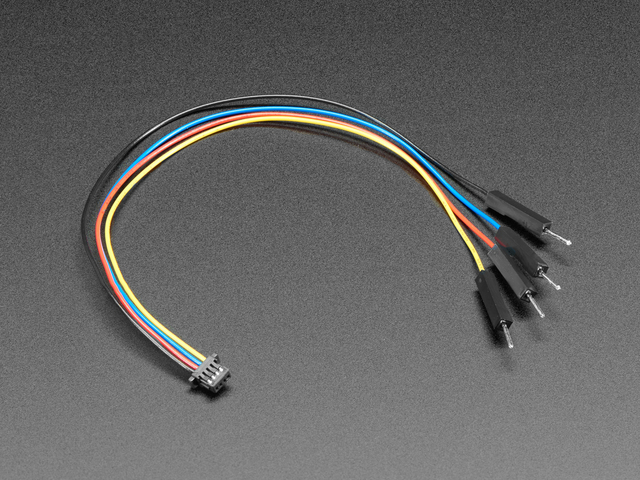 JST SH 4-Pin to Premium Male Headers Cable - Qwiic Compatible