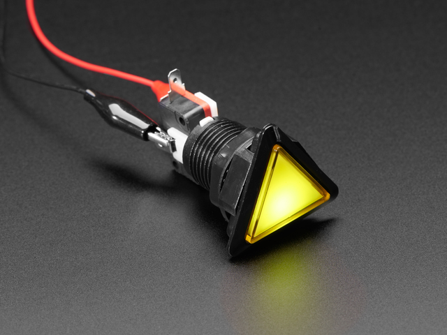 LED Illuminated Triangle Pushbutton A.K.A 1960s Sci-Fi Buttons