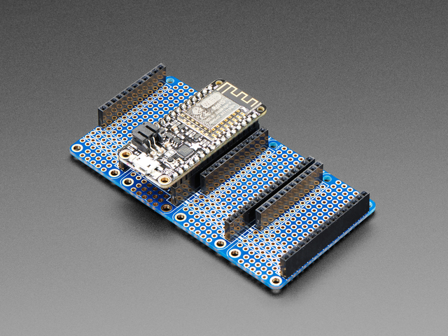 Adafruit Quad Side-By-Side FeatherWing Kit with Headers