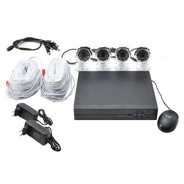 Set videosorveglianza con DVR e 4 telecamere IR 4MPX