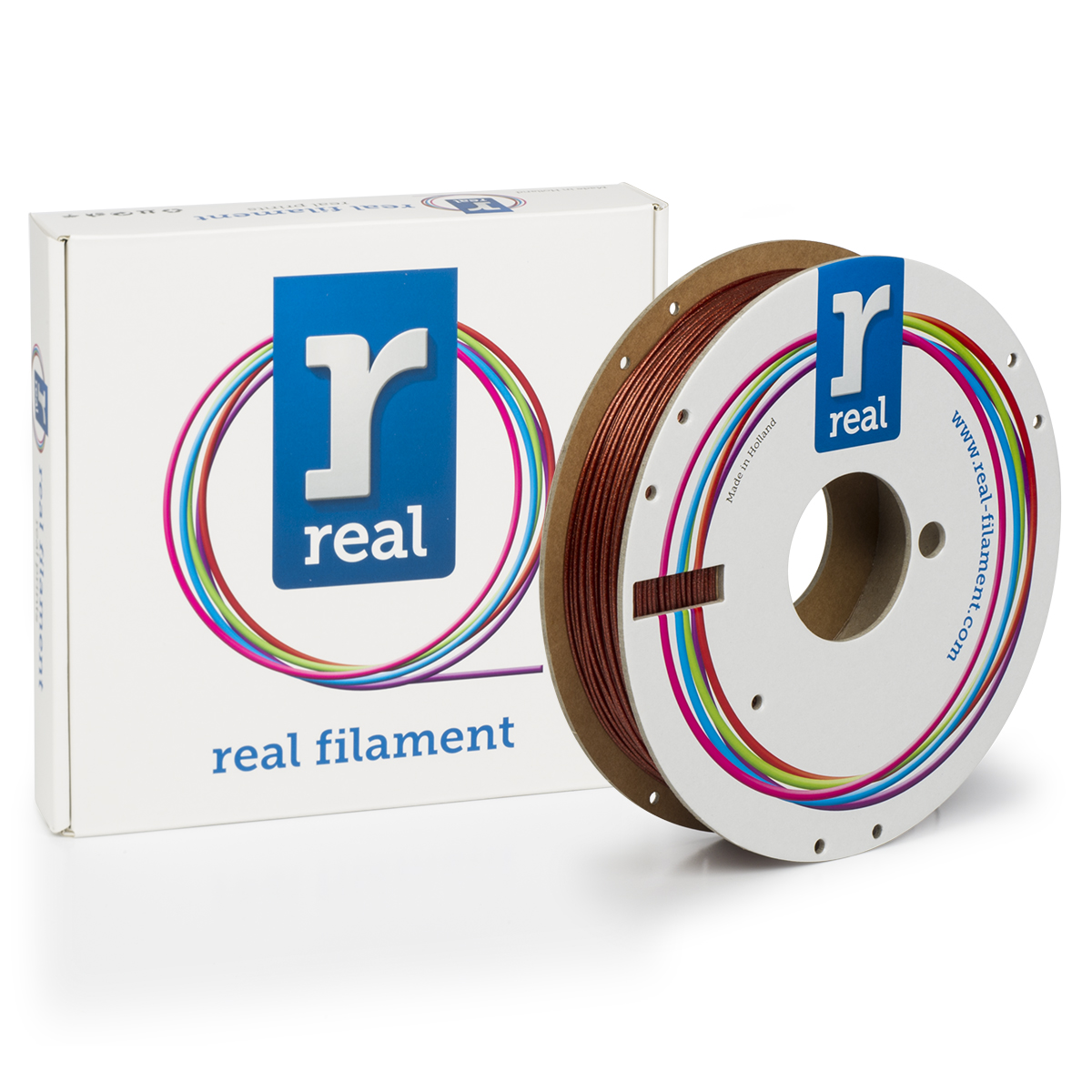 PLA filament Sparkle Crystal Blue 1.75 mm / 0.5 kg Real