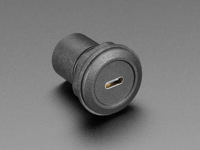 USB C Jack to Micro USB Jack Round Panel Mount Adapter