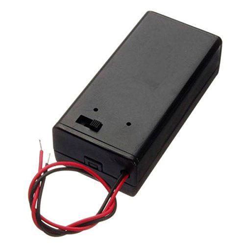 Portabatteria 9 volt con coperchio e interruttore