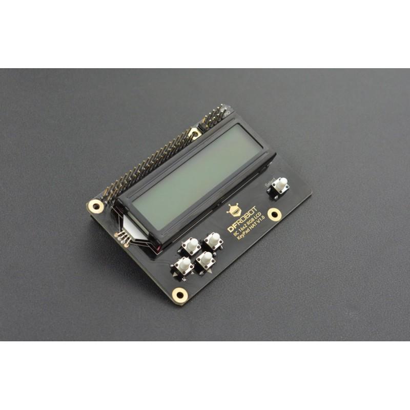 IIC 16x2 RGB LCD KeyPad HAT V1.0