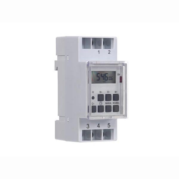 Timer digitale con display LDC montaggio guida DIN