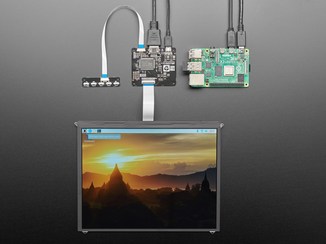 Pimoroni HDMI 10 (inches) IPS LCD Screen Kit - 1024x768