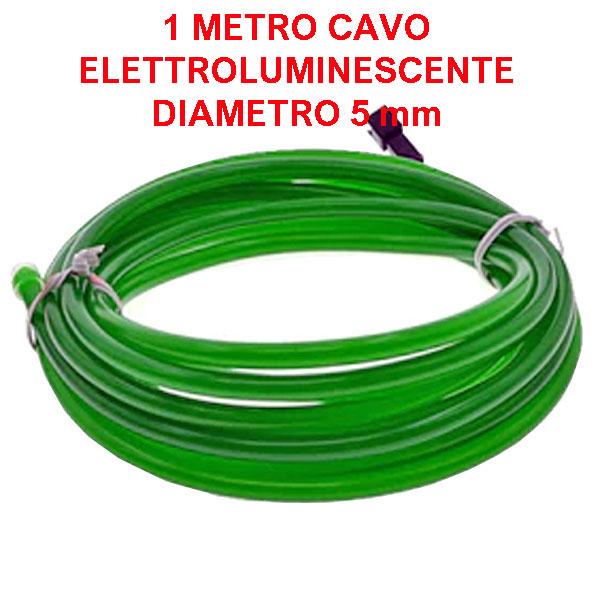 Cavo elettroluminescente Verde - 1 metro / 5 mm